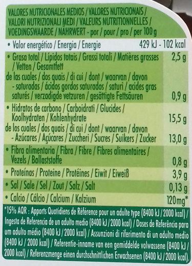 Postre de soja Chocolate Intenso - Informations nutritionnelles - es