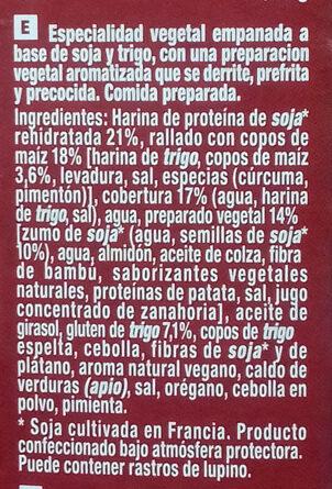 Nuggets Vegetales Soja y Trigo - Ingredients