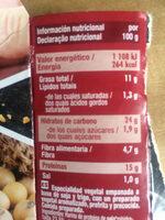 Nuggets Vegetales Soja y Trigo - Informació nutricional - es
