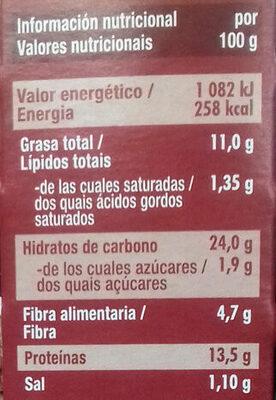 Nuggets Vegetales Soja y Trigo - Informations nutritionnelles