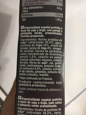 Burger vegetal BBQ - Ingredients
