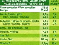 Postre de soja natural cremoso (2 Uds) - Informació nutricional - es