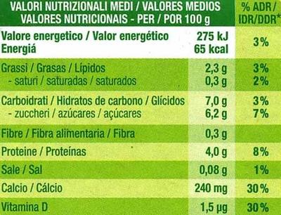 """Postre de soja """"Sojasun"""" Natural Cremoso (2 Uds) - Nutrition facts"""