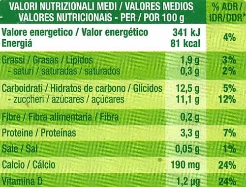 """Postre de soja """"Sojasun"""" Albaricoque Cremoso (2 Uds) - Información nutricional"""