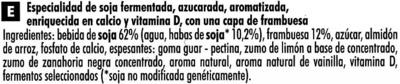 Postre de soja cremoso con frambuesa - Ingrédients - es