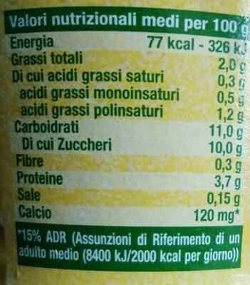 Sojasun citron - Informations nutritionnelles
