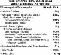 Flan vainilla con caramelo - Información nutricional - es