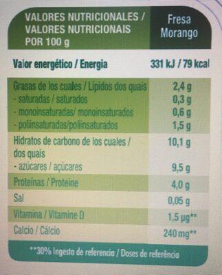 Petit maxi especialidad vegetal de soja - Informació nutricional - es