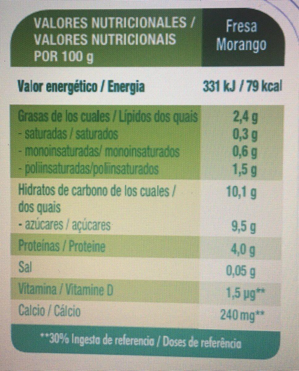 Petit maxi especialidad vegetal de soja - Información nutricional - es