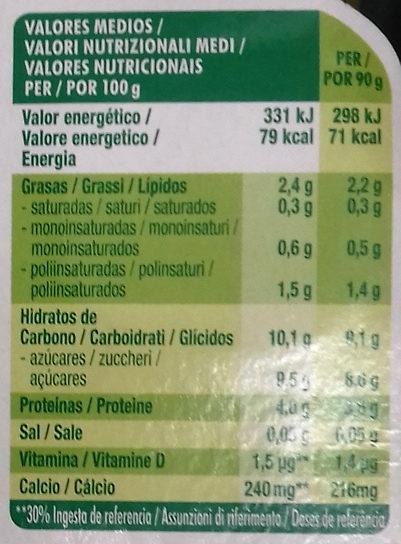 Petit Maxi Fresa - Informació nutricional