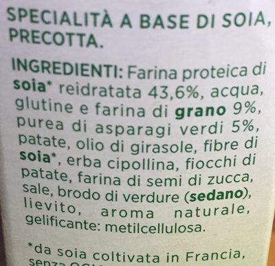 Burger vegetale asparagi - Ingrédients