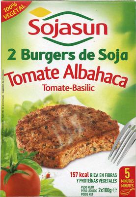 Hamburguesas vegetales de soja de tomate y alhabaca - Product - es