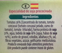 Hamburguesas vegetales de soja de tomate y alhabaca - Ingrediënten - es