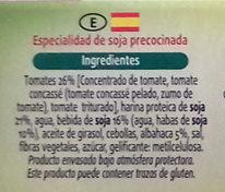 Hamburguesas vegetales Tomate y albahaca - Ingredients