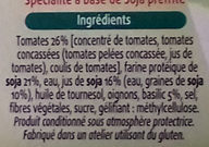 Hamburguesas vegetales Tomate y albahaca - Ingrédients - fr