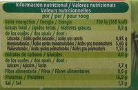 Hamburguesas vegetales Tomate y albahaca - Informació nutricional