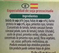2 Burgers de Soja Provenzal - Ingredients