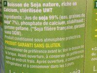 Boisson de soja nature - Ingrédients - fr