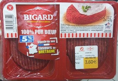100% Pur Boeuf 5% MG - Produit - fr