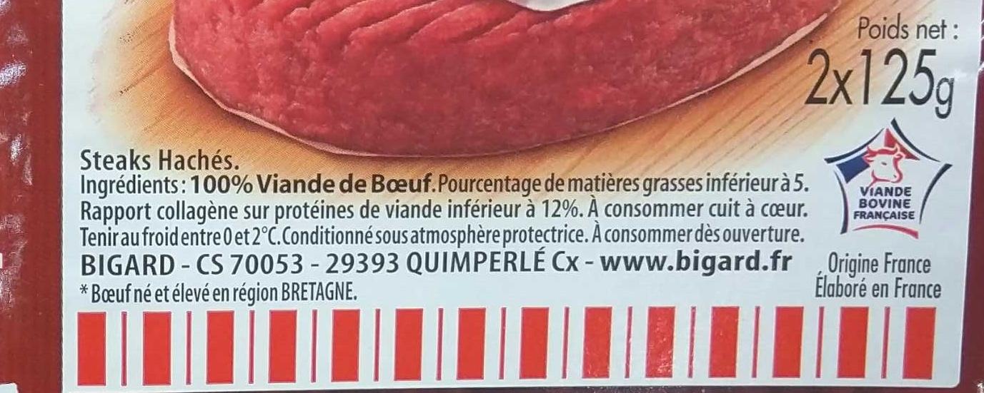 100% Pur Boeuf 5% MG - Ingrédients - fr