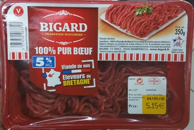 100% Pur Boeuf 5% MG - Product