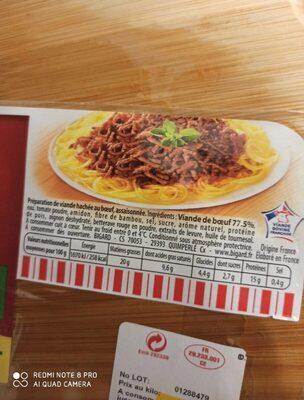Viande hache - Informations nutritionnelles - fr