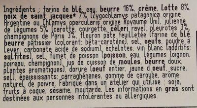 Bouchée Lotte et Saint-Jacques - Ingredients - fr