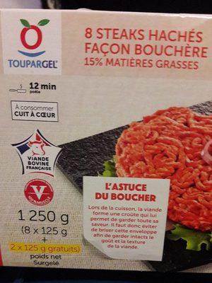 10 Steaks Hachés Façon Bouchère 15% MG - Product