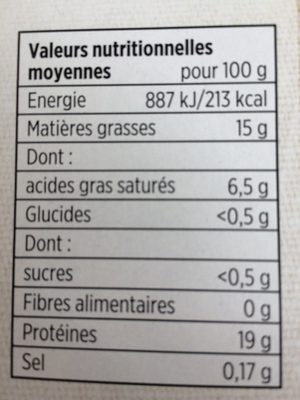 10 Steaks Hachés Façon Bouchère 15% MG - Nutrition facts