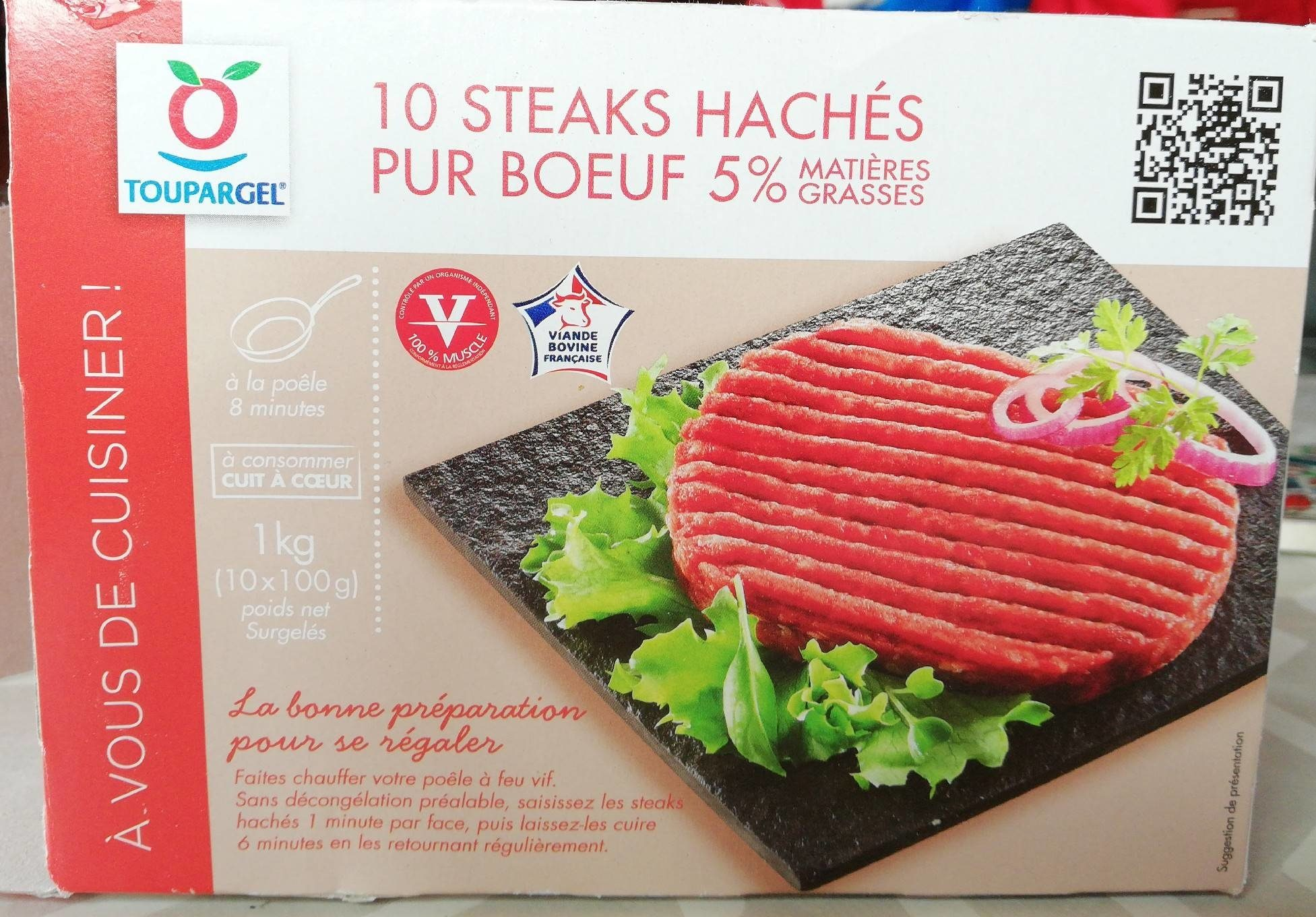 10 steaks hachés pur bœuf 5%matières grasses - Product
