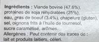 10 burgers surgelés - Ingredienti - fr