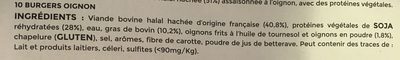 Burger oignon - Ingrédients - fr