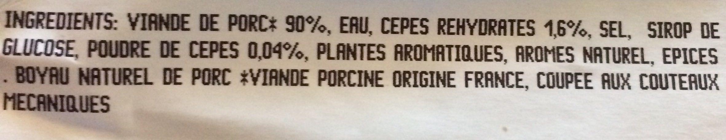 Saucisse à l'Ancienne Tomates Confites & Thym - Ingredients - fr
