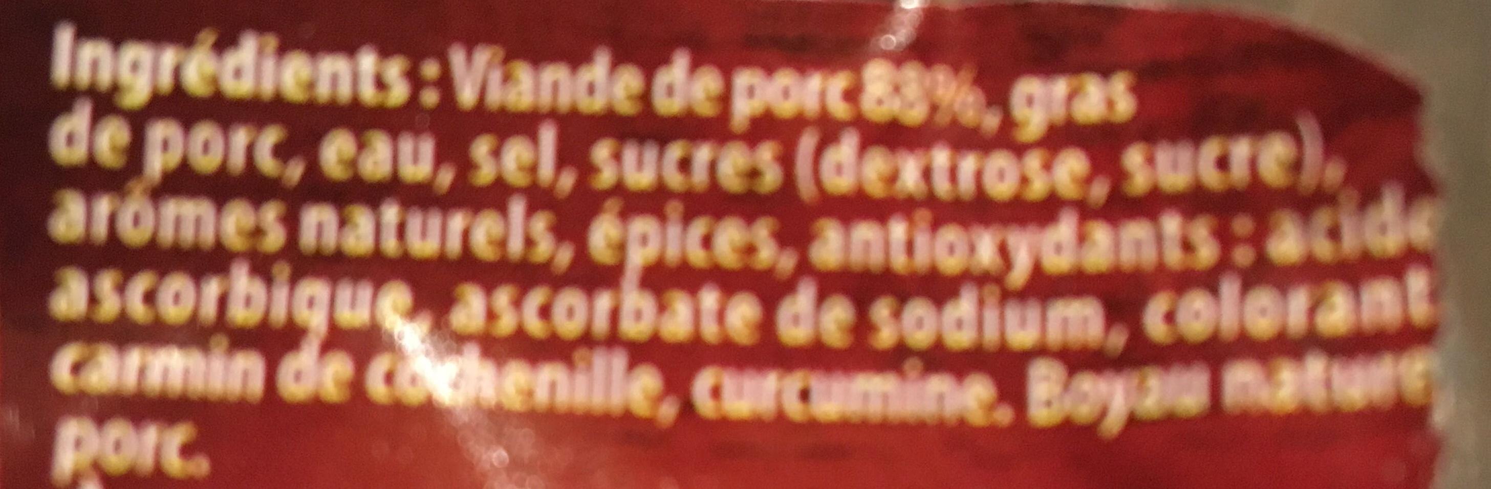 Saucisses Fumées - Ingredients - fr