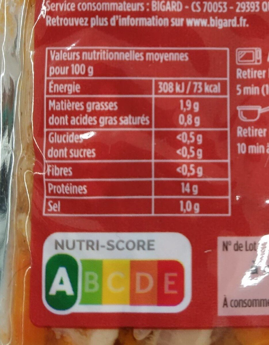 Tripes à la Tomate - Informations nutritionnelles - fr