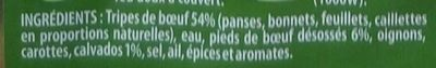 Tripes à la Mode de Caen - Ingredienti - fr