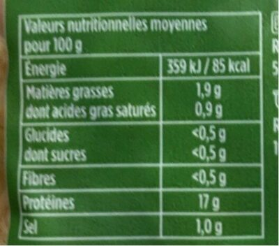 Tripes à la Mode de Caen - Valori nutrizionali - fr