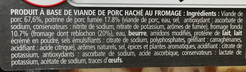 Haché au Porc à la Savoyarde - Ingrédients - fr
