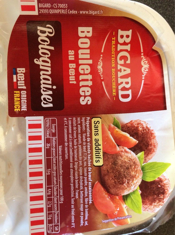 Boulettes de boeuf Bolognaises Bigard - Product