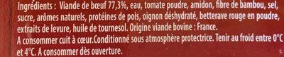 Boulettes de boeuf Bolognaises Bigard - Ingredients