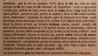 Croque Monsieur Cheddar Jambon cru - Ingrédients - fr
