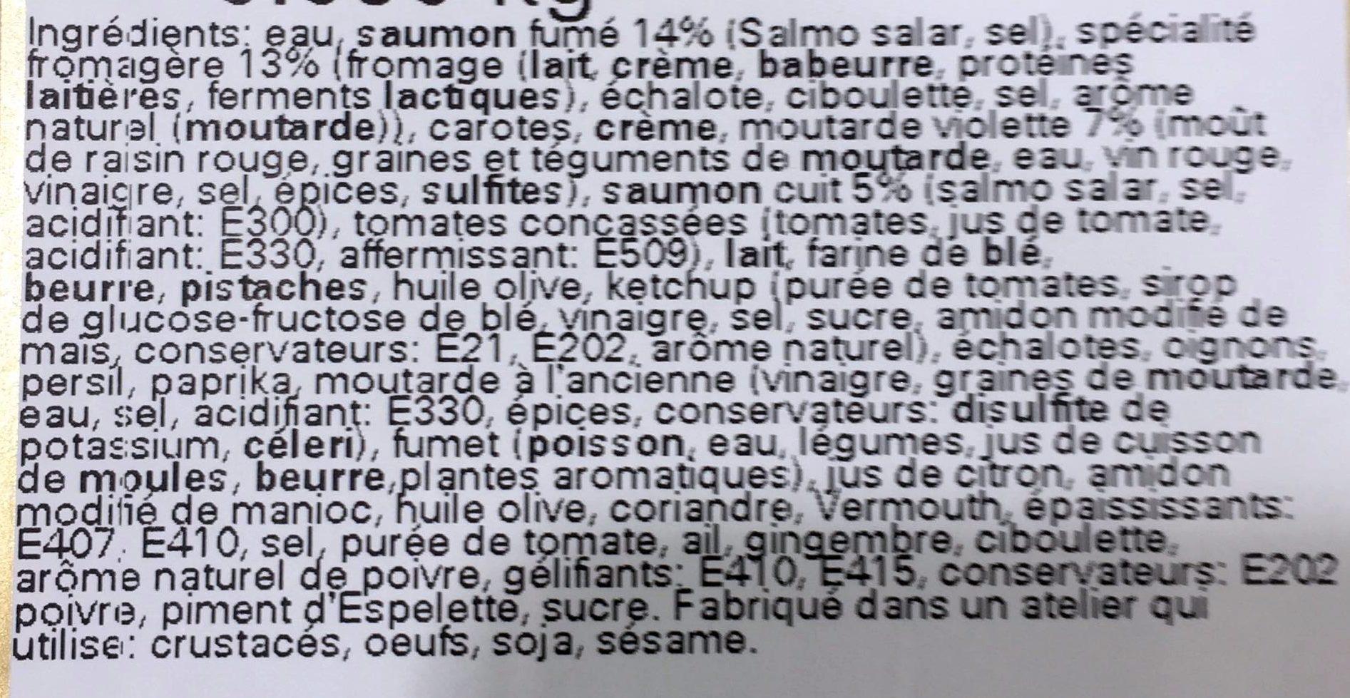 Déclinaison de saumon - Ingrediënten