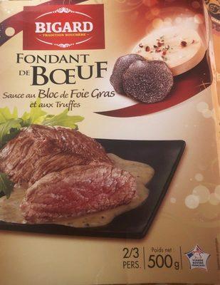 Fondant de boeuf sauce foie gras et truffes Bigard - Produit