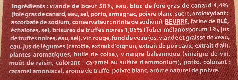 Fondant de boeuf sauce foie gras et truffes Bigard - Ingrédients - fr