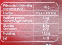 Fondant de boeuf sauce foie gras et truffes Bigard - Informations nutritionnelles - fr