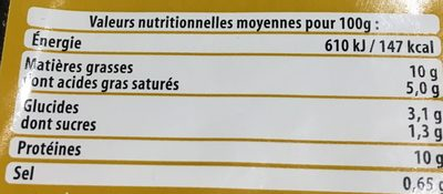 Langue de Bœuf Sauce Madère - Nutrition facts