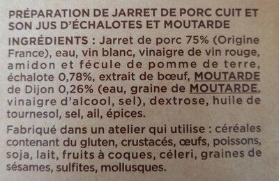 Jarret de porc désossé - Ingredients - fr