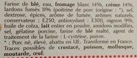 3 flammekueches alsaciennes - Ingrédients - fr