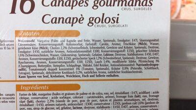 Kauffer's   16 Apéro Canapés - Ingredients