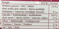 Kauffer's : 50 Petits Fours Apéritifs - Nutrition facts